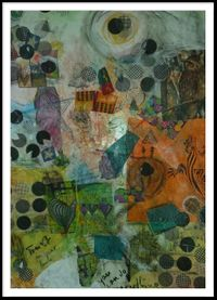 1 Collage auf Karton/ Trust in your love my lovely LizardKing/ 60 cm x